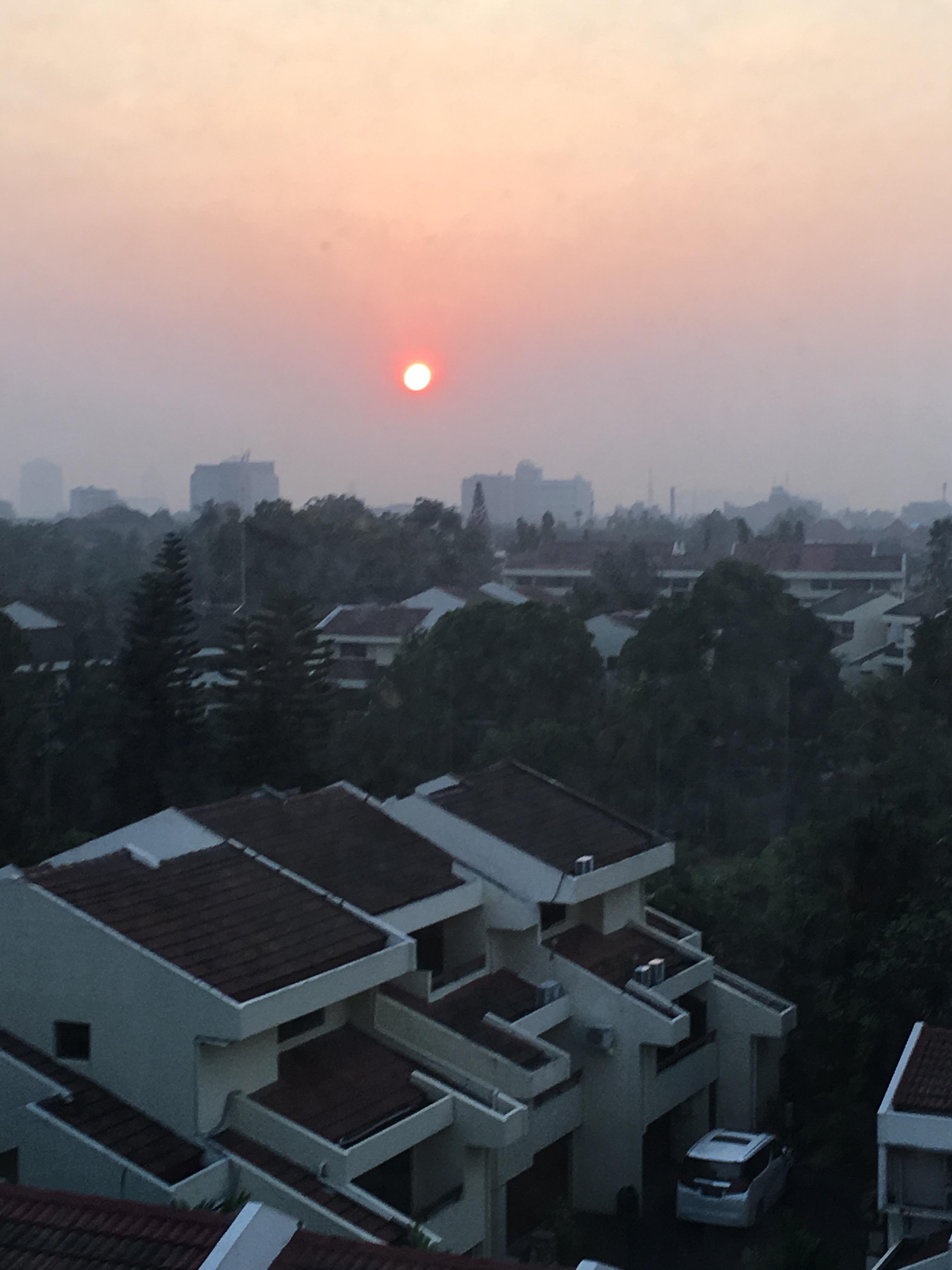 Sunrise from apartment