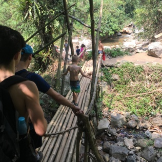 rickety bamboo bridge